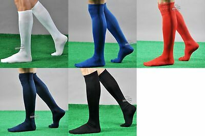 New Mens Ladies Soccer Football Socks Rugby Hockey Sports Plain Long Socks 6-11