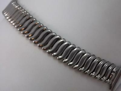 Flex-Let Mens Vintage Watch Band 23mm XLong Overhand Expansion Stainless Stl NOS