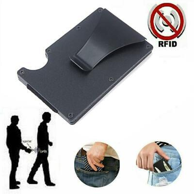RFID Blocking Metal Wallet Slim Aluminum Wallets Credit Card Holders Money Cli