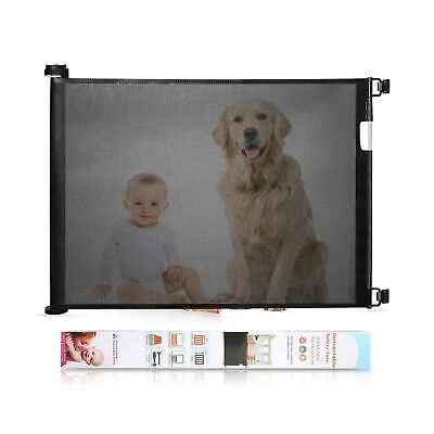 Babepai Retractable Baby Gate Wide Safety Mesh Gate Easy to Roll and Latch fo...