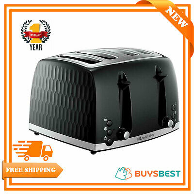Russell Hobbs Honeycomb 4 Slice Toaster Black 26071