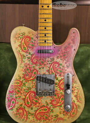 Fender Custom Shop MBS 69 Telecaster Relic Gold Pink Paisley Used W/Hard Case
