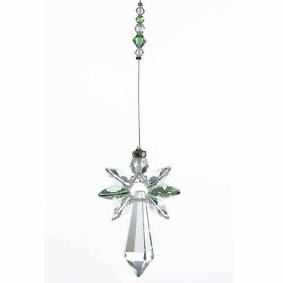 Large Angel Birthstone Suncatcher With Crystals - PERIDOT Reiki Gift Idea