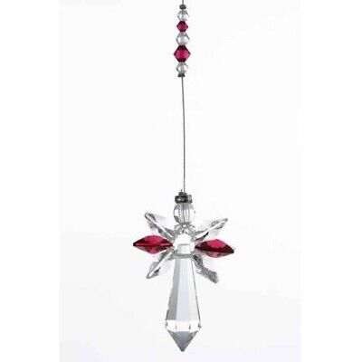Large Angel Birthstone Suncatcher With Crystals Ruby Reiki Gift Idea Mothers Day