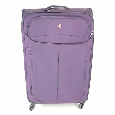 "SwissGear 28"" Spinner Luggage Expandable Suitcase Purple"