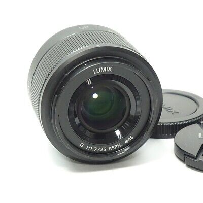 Panasonic LUMIX G 25mm/F1.7 ASPH Zoom Lens Accessory Complete USED F/S (d105