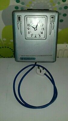 Vintage Magneta Industrial Electric Powered Clocking-In-Out Clock Time Recorder