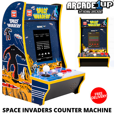 Space Invaders Counter Machine With Authentic Arcade Controls & Original Artwork