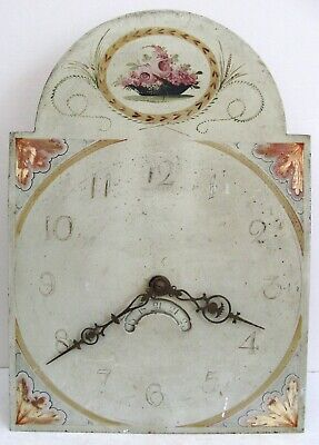 A Good Painted  Longcase Dial & Movement .