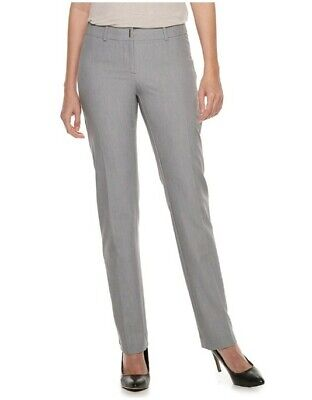Nwt Womens Apt 9 Midrise Torie Modern Fit Straight Leg Dress Pants Size 6