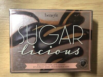Benefit - SUGARLICIOUS - DELICIOUSLY NUDE - Lip & Cheek Kit - Brand New & Boxed