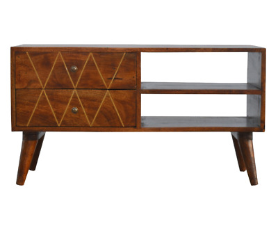 Mid Century TV Stand Danish Modern Cabinet Vintage Media Storage Unit Nordic Leg