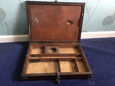 Antique Mahogany Artist Traveling Box