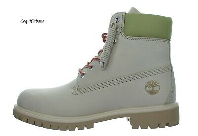 """Timberland Mens """"Premium 6 Inch"""" Light Beige Waterproof Leather Boots Size 11.5"""