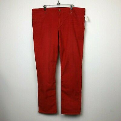 NWT Gap Womens Killer Tomato Always Skinny Corduroy Pants - Size 20