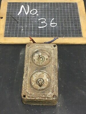 Vintage Industrial Cast Iron Crabtree Toggle Light Switch