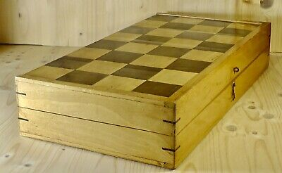 Altes Holz Schachspiel wooden Chess game Chess set Schachfiguren Schachmeister