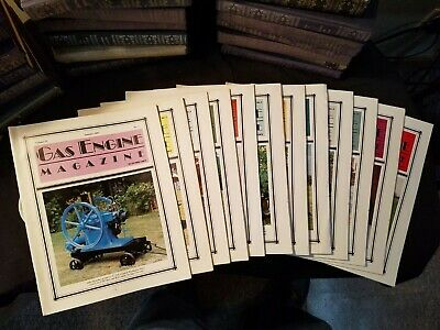 The Gas Engine Magazine 1987 Issues 1-to 12 Complete Year Illustrated Clean