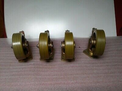 Lot of (4) Aerol 14045 Poly Wheel Casters                        D