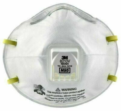 3M 8210V N95 Particulate Respirator with Valve mask Only 1 mask made in USA