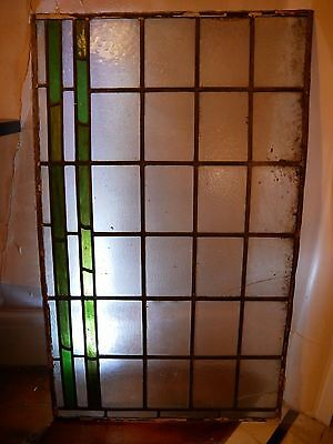 2 Art Nouveau / Arts & Crafts / Edwardian stained glass leaded light windows