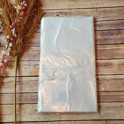 100 - 18x20 Clear Poly Plastic Bags Packaging Shipping Open Top Lay-flat 1 Mil