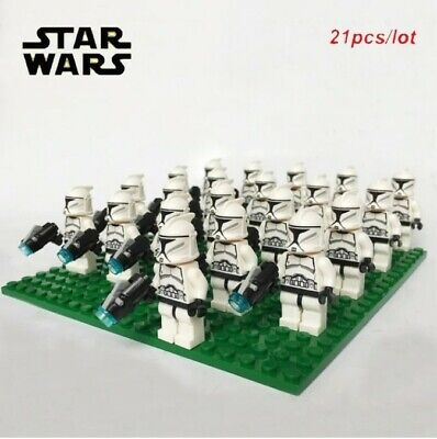 x21 Star Wars Minifigures Clone Troopers White Compatible With Lego Battle Pack