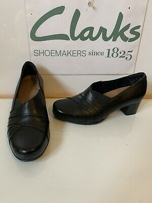 Clarks Smart Black Leather Shoes Size UK 4.5 EU 37.5 in excellent condition