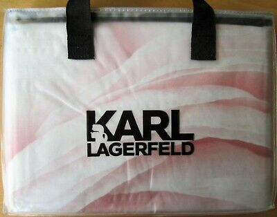 Karl Lagerfeld Pair Of Stria Nude Housewife Pillowcases