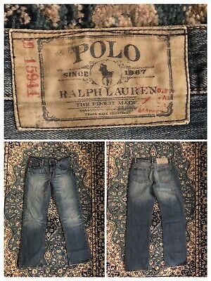 Ralph Lauren Polo Boys Straight Leg Jeans Size 14 Years Junior Blue VGC designer