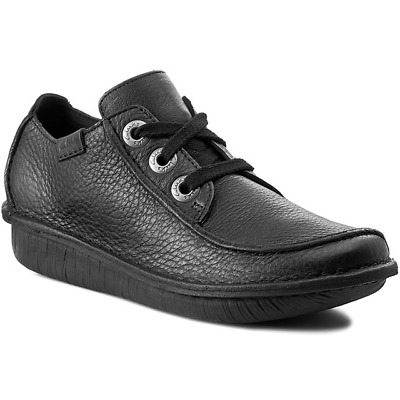 Clarks Funny Dream Black Leather Casual Ladies Shoes UK6.5 (EU40 / US9)