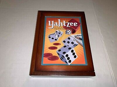 Yahtzee Parker Brothers Vintage Board Game Collection Wood Book Box