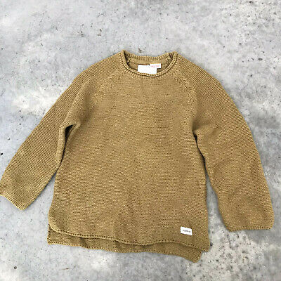 Zara Baby Knitwear Mustard Yellow Girls Knit Sweater Size Age 3-4 Years