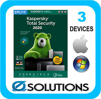 Kaspersky Total Security  3 Device 1 Year License Key 2020