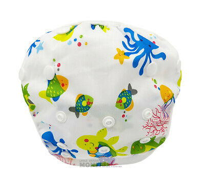 Reef Animals Swim Cloth Nappy - washable reuseable swimmer adjustable baby