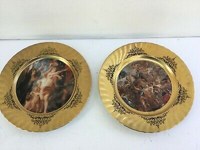 Large rare decorative Feltmann Weiden West German plates for sale
