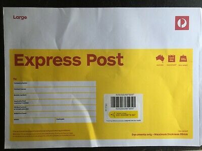 100x Large B4 EXPRESS Document Envelope Australia Post with EXPRESS DELIVERY