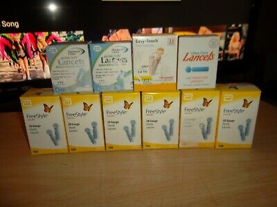 Lot Of ( 10 ) Lancets - Freestyle,Easy Touch,Ultra Care,Pharmacist Choice - New