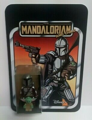 Star Wars The Mandalorian & Child (Baby Yoda) Custom Carded Minifigures