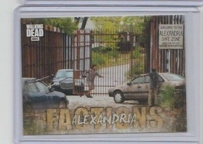 2018 Topps The Walking Dead Road To Alexandria Factions Insert Trading Card #F-6