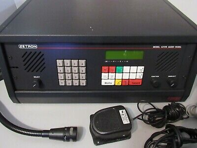 Zetron Model 4217B Audio Panel and mike only