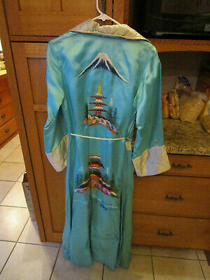 Vintage Japanese Dragon Robe Size 14 Yokohama Japan lot D