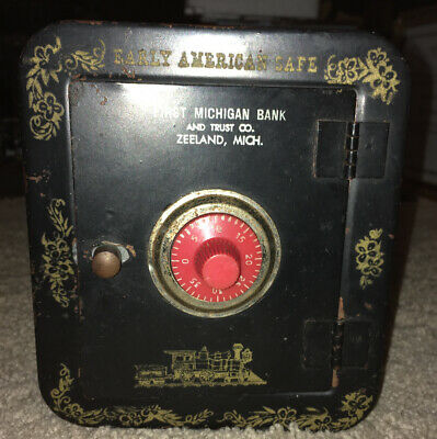 First Michigan Bank & Trust Co Early American Safe Coin Bank