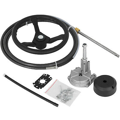 8ft Teleflex Safe-T SS13708 Quick Connect Boat Rotary Steering Cable /& Helm Kit