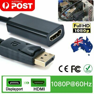DisplayPort Display Port DP Male to HDMI Female Adapter Converter Cable 25cm