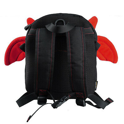 Cute Anti-lost Little Devil Backpack Baby Safety Walking, Black red
