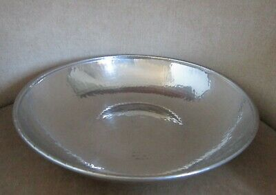 Vintage L R I Borrowdale Arts & Crafts Hand Beaten Stainless Steel Salad / Fruit