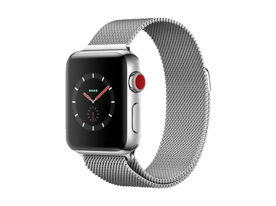 APPLE Watch Series 3 Smart (GPS + Cellular) 38 mm Edelstahl Milanaise NEUWERTIG