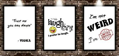 Funny Quote Prints Home Wall Art Posters Quality Modern Minimalist Pictures