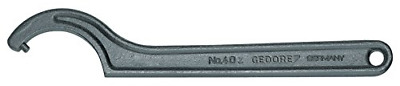 GEDORE 40 Z 40-42 Hook Wrench with pin, 40-42 mm